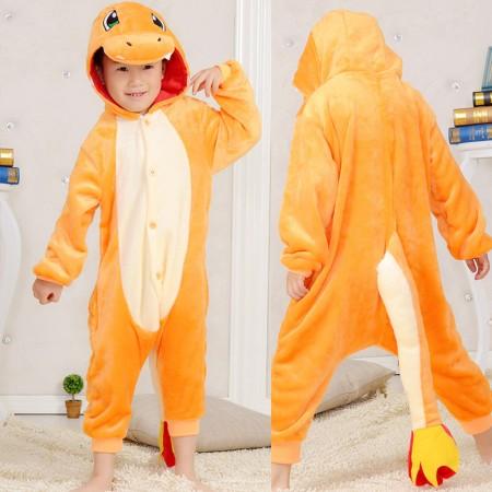 Charmander Onesie Pajamas Animal Kigurumi Pokemon Costumes for Kids