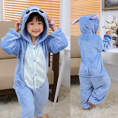 Disney Stitch Onesie Pajamas Animal Kigurumi Costumes for Kids