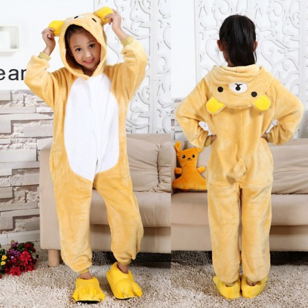 e03b574ecb99 Rilakkuma Bear Onesie Pajamas Animal Kigurumi Costumes for Kids