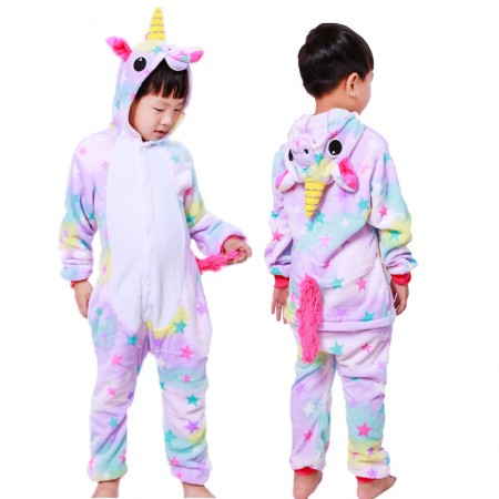 Dream Unicorn Onesie Pajamas Animal Kigurumi Costumes for Kids
