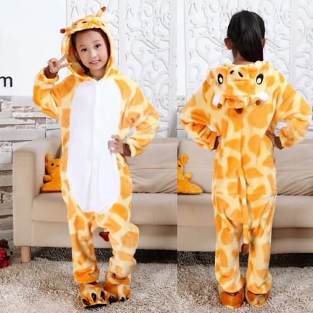 cfbcca4f9fb8 Giraffe Onesie Pajamas Animal Kigurumi Costumes for Kids
