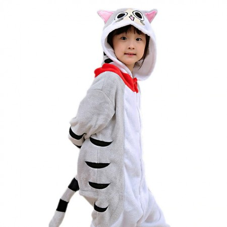 Cheese Cat Onesie Pajamas Animal Kigurumi Costumes for Kids