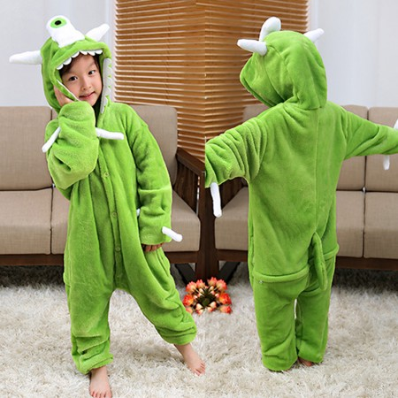 One Eyed Monster Onesie Pajamas Animal Kigurumi Costumes for Kids