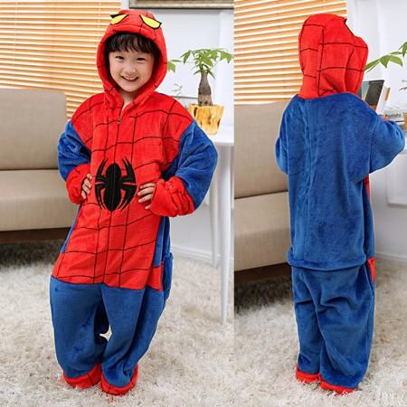Spiderman Superhero Onesie Pajamas Animal Kigurumi Costumes for Kids