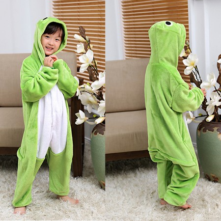Frog Onesie Pajamas Animal Kigurumi Costumes for Kids