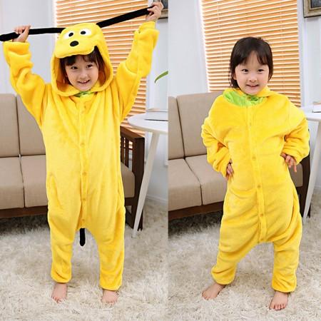 Pluto Dog Onesie Pajamas Animal Kigurumi Costumes for Kids