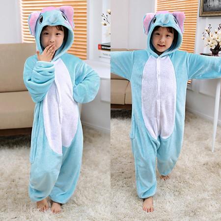 Elephant Onesie Pajamas Animal Kigurumi Costumes for Kids