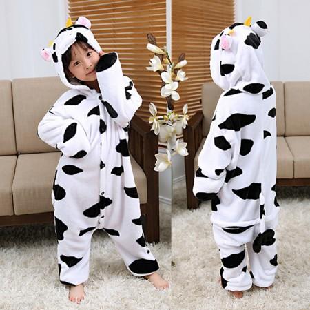 Cow Onesie Pajamas Animal Kigurumi Costumes for Kids