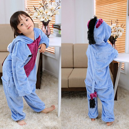 Eeyore Donekey Onesie Pajamas Animal Kigurumi Costumes for Kids