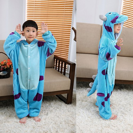 d4c5e6805d Sully Monsters Inc Onesie Pajamas Animal Kigurumi Costumes for Kids