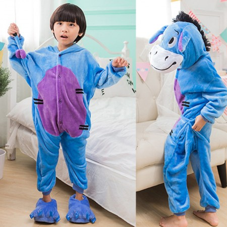 Disney Winnie the Pooh Eeyore Onesie Pajamas Animal Kigurumi Costumes for Kids