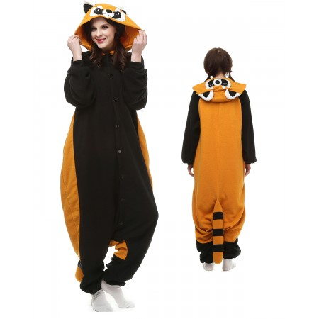 0eb2f103dfcd Red Panda Raccoon Kigurumi Onesie Pajamas Animal Costumes For Adult