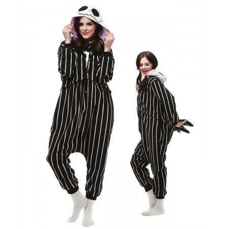 Jack Skellington Onesie Pajamas Skull Animal Costumes For Adult