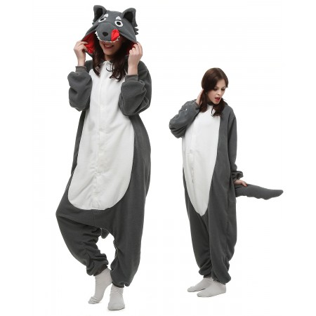 Wolf Kigurumi Onesie Pajamas Animal Costumes For Adult