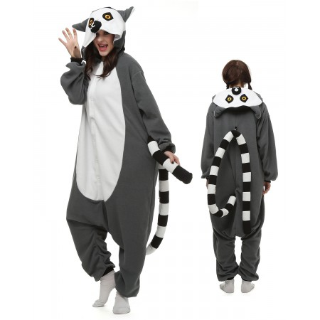 Ring-Tailed Lemur Kigurumi Onesie Pajamas Animal Costumes For Adult