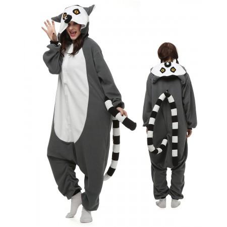 ae1311eeaecb Ring-Tailed Lemur Kigurumi Onesie Pajamas Animal Costumes For Adult