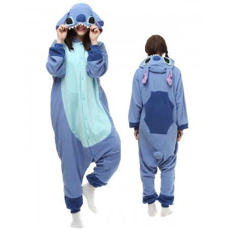 Blue Stitch Kigurumi Onesie Pajamas Animal Costumes For Adult