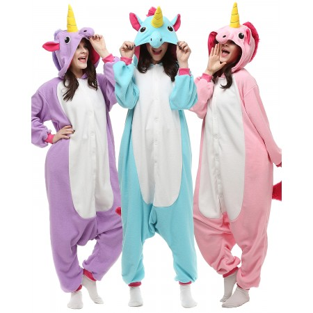 Unicorn Onesie Kigurumi Adult Animal Pajamas for Women & Men