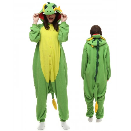 Chinese Dragon Kigurumi Onesie Pajamas Animal Costumes For Adult