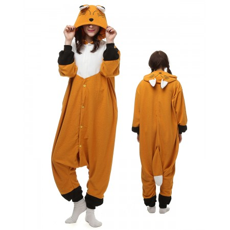 Japanese Red Fox Kigurumi Onesie Pajamas Animal Costumes For Adult