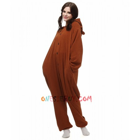 72375c0040fe Rilakkuma Bear Kigurumi Onesie Pajamas Animal Costumes For Adult