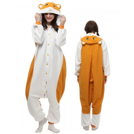 Hamster Kigurumi Onesie Pajamas Animal Costumes For Adult