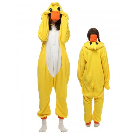 Yellow Duck Kigurumi Onesie Pajamas Animal Costumes For Adult