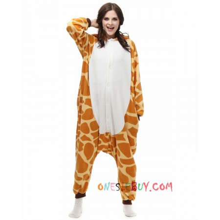 Giraffe Kigurumi Onesie Pajamas Animal Costumes For Adult e30aa622b