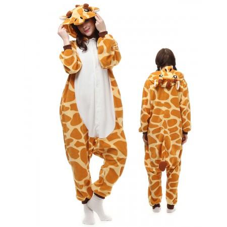1fb78458cb Giraffe Kigurumi Onesie Pajamas Animal Costumes For Adult