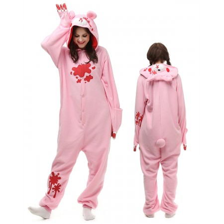 Pink Gloomy Bear Kigurumi Onesie Pajamas Animal Costumes For Adult