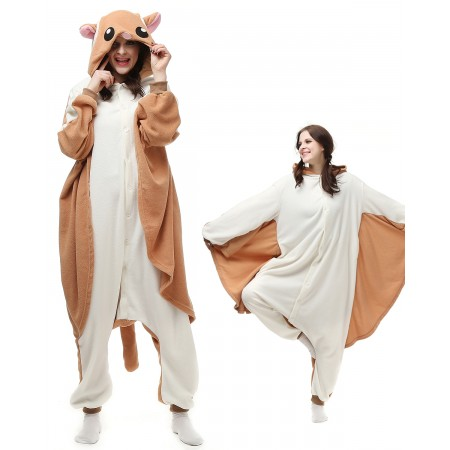 Flying Squirrel Kigurumi Onesie Pajamas Animal Costumes For Adult