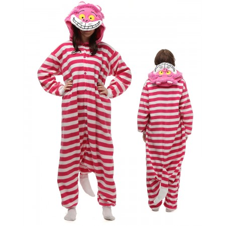 Cheshire Cat Kigurumi Onesie Pajamas Animal Costumes For Adult