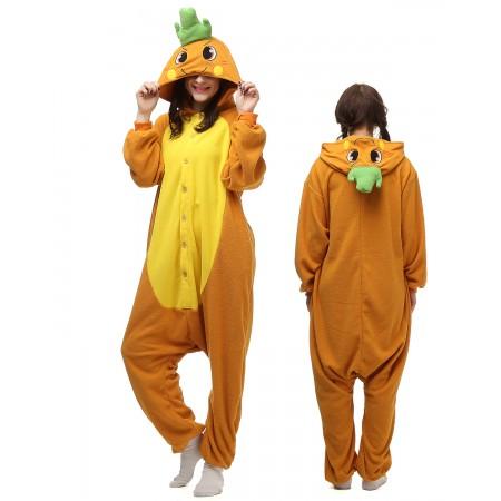 Carrot Kigurumi Onesie Pajamas Animal Costumes For Adult