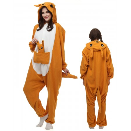 Kangaroo Kigurumi Onesie Pajamas Animal Costumes For Adult