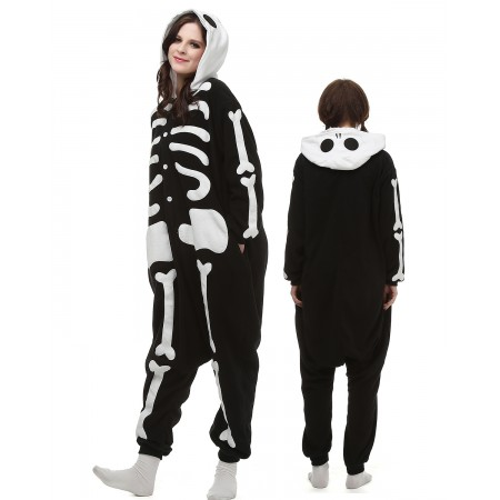 Skeleton Kigurumi Onesie Pajamas Animal Costumes For Adult