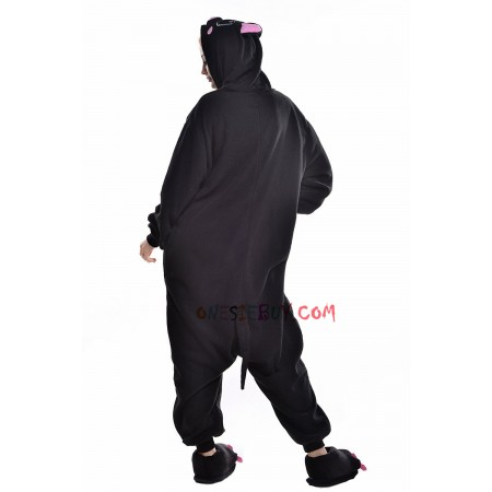 699b17de88e1 Black Pig Kigurumi Onesie Pajamas Animal Costumes For Adult