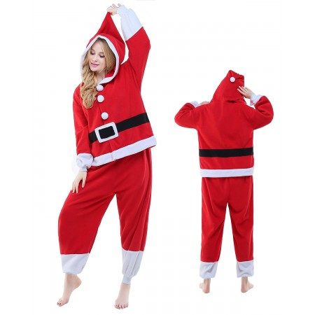 Santa Claus Kigurumi Onesie Pajamas Animal Costumes For Adult