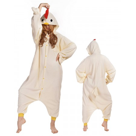Chicken Kigurumi Onesie Pajamas Animal Costumes For Adult