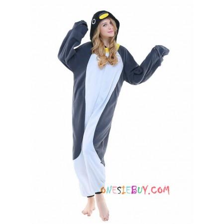 df4c067b52 Gray Penguin Kigurumi Onesie Pajamas Animal Costumes For Adult