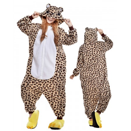 Leopard Bear Kigurumi Onesie Pajamas Animal Costumes For Adult