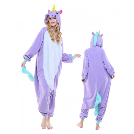 New Purple Unicorn Kigurumi Onesie Pajamas Animal Costumes For Adult