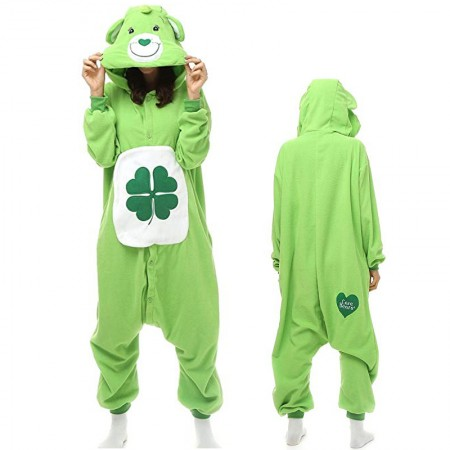 Clover Care Bear Onesie Pajamas Animal Costume for Adult