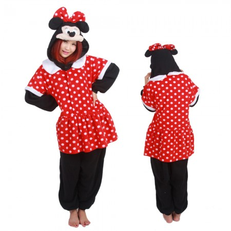 Minnie Kigurumi Onesie Pajamas Animal Costumes For Adult