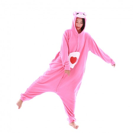 Love Care Bear Onesie Pajamas Animal Costume for Adult