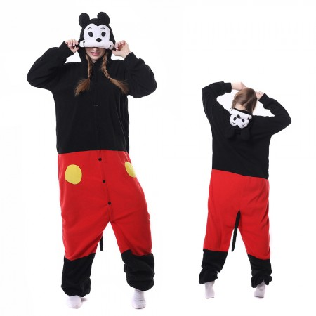 Mickey Mouse Kigurumi Onesie Pajamas Animal Costumes For Adult