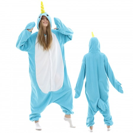 Adult Narwhal Onesie Pajamas Animal Costumes For Women & Men