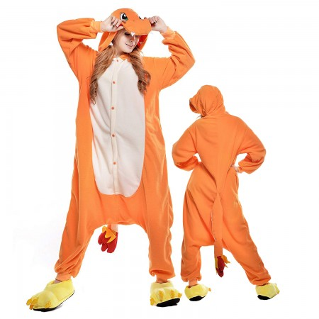 Adult Charmander Onesie Pajama Animal Costumes For Women & Men