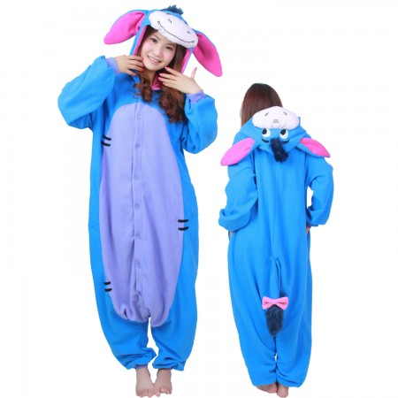 2d0c8e63813a Winnie The Pooh Eeyore Costume Eeyore Onesie Pajamas For Adult   Teens  Animal Costumes