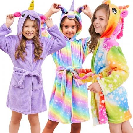 Christmas Unicorn Gifts For Girls - Best Gifts Soft Unicorn Hooded Bathrobe Sleepwear