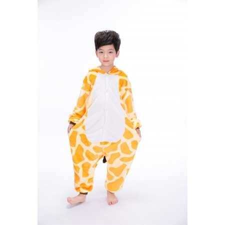 988f6bffe25e animal kigurumi yellow Giraffe onesie pajamas for kids